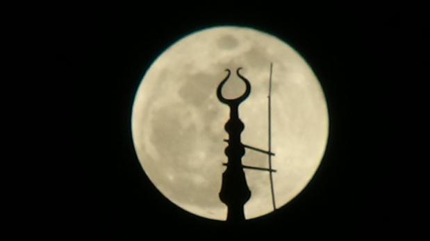 Türkiye'den 'Süper Kanlı Mavi Ay' görüntüleri