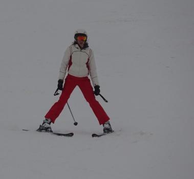 Küçük kayakçılar zirvede göz doldurdu