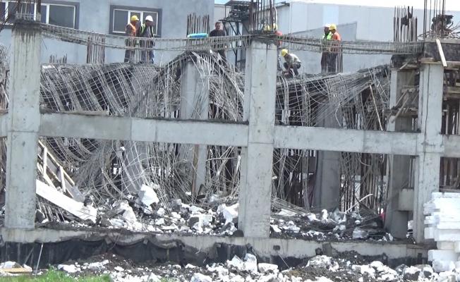 Yıldırım'daki inşaat kazası kameralara yansıdı