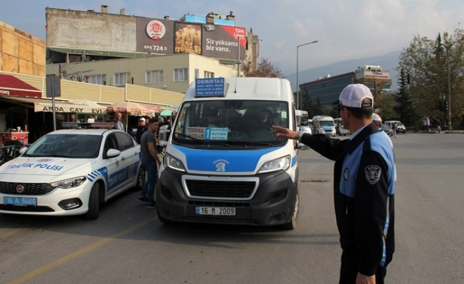 Bursa'da zam yapan minibüslere ceza yağdı