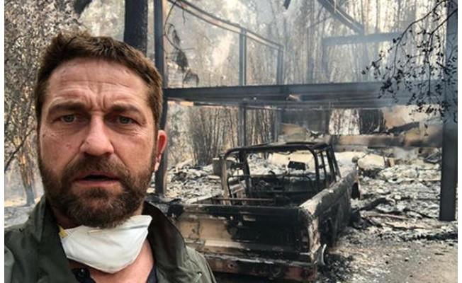 Gerard Butler'ın evi kül oldu