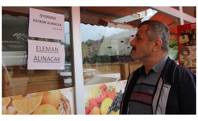 Trabzon'de işçi bulamadı artık patron arıyor!