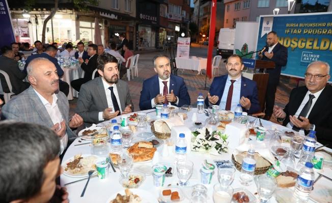 """Başkan Alinur Aktaş: """"Derdimiz Orhaneli, heyecanımız Bursa"""""""