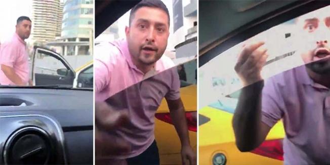 Taksici aracın yolunu kesip tehditler savurdu