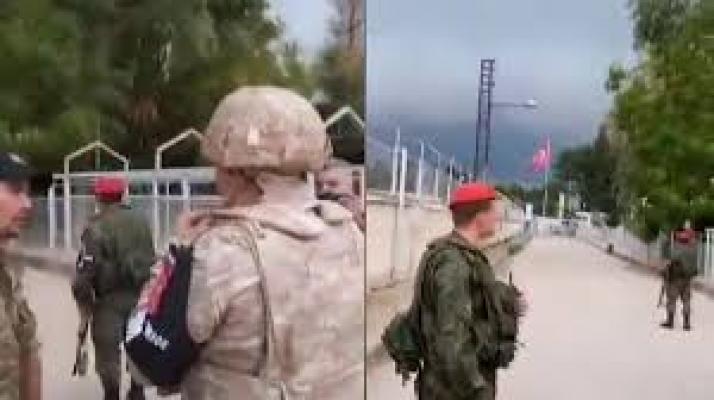 Rus askerinden Türk askerine sıcak ilgi!