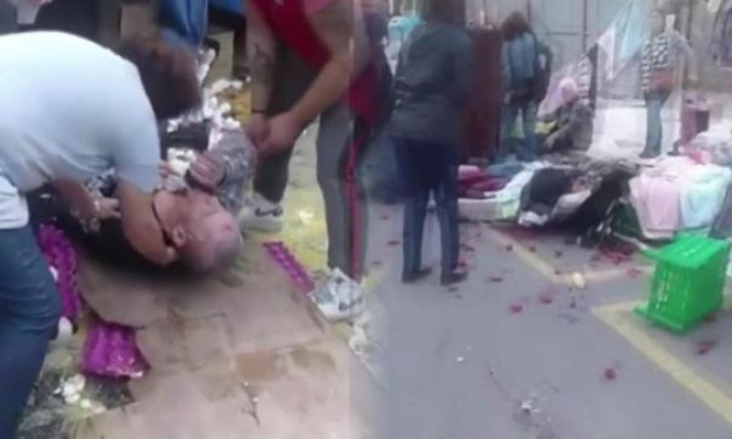 Kadıköy'de otomobil pazara daldı : 8 yaralı