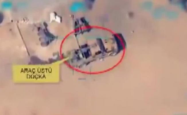 Son dakika: Doçka uçaksavar monteli araç böyle vuruldu! Barış Pınarı Harekatı'ndan yeni görüntü .
