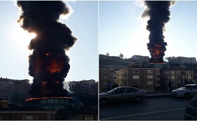 Ankara'da, Ali Kuşçu Gökbilim Merkezi'nde yangın