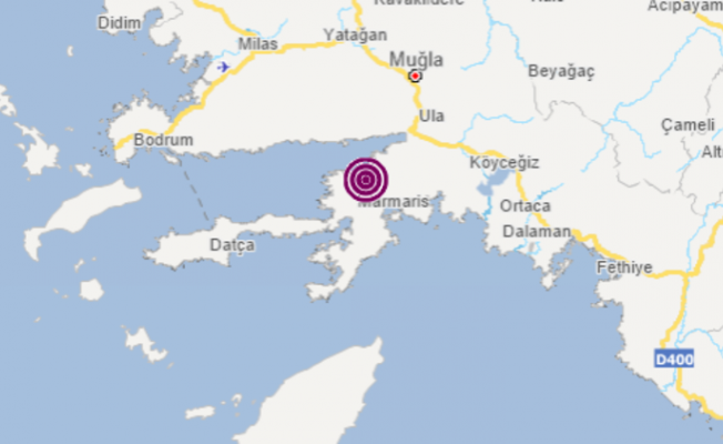 Marmaris'te 3 büyüklüğünde deprem
