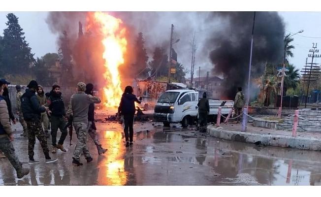 Rasulayn'da 2 bomba yüklü araç patladı