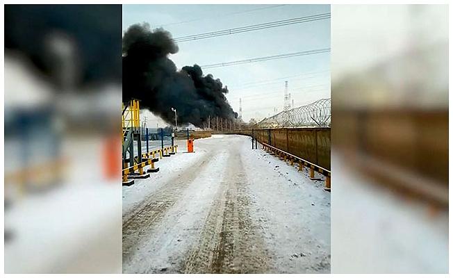 Rusya'da petrol boru hattında yangın çıktı