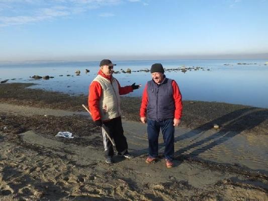 Deniz çekilince antik limanın kalıntıları ortaya çıktı!