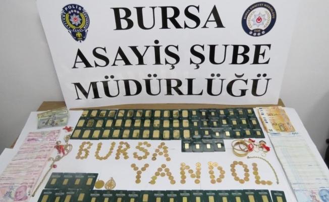 Bursa'da Savcı-polis yalanı ile 3 kilo 600 gram altın