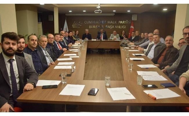 CHP Bursa'da Başkanlık Divanı oluştu