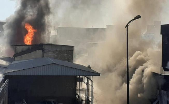 Gaziantep'te fabrikada yangın