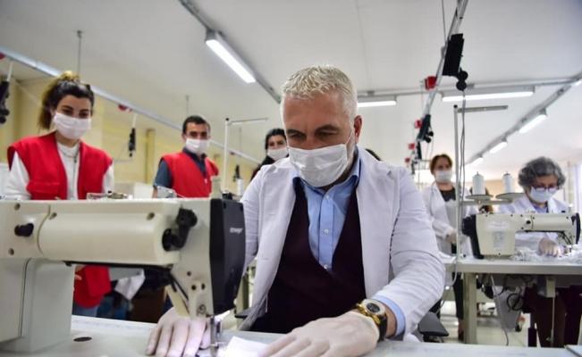 Kızılay günde 30 bin adet maske üretecek