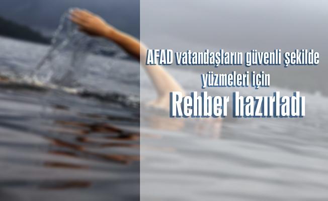 Vatandaşların güvenli şekilde yüzmeleri için rehber hazırladı