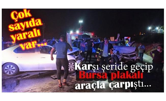 Bursa plakalı otomobille çarpıştı: 6 yaralı