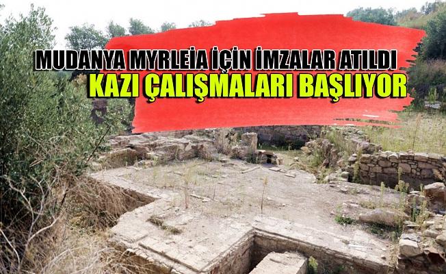 Mudanya Myrleia için imzalar atıldı, kazı çalışmaları başlıyor