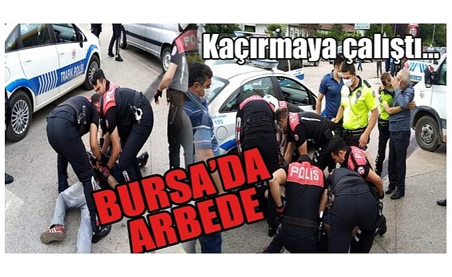 Polise direnip kaçmaya kalkıştı