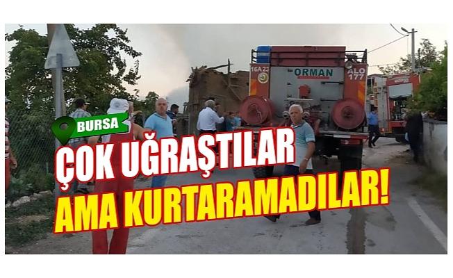 Bursa'da 150 yıllık tarihi ev kül oldu