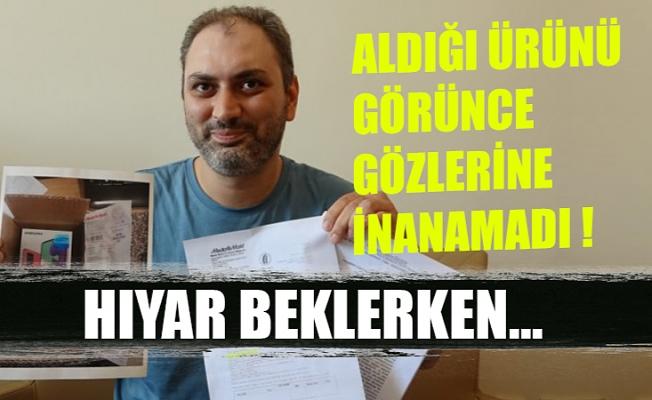 """Bursa'da şaşkına dönen müşteri: """"Hıyar beklerken telefon geldi"""""""
