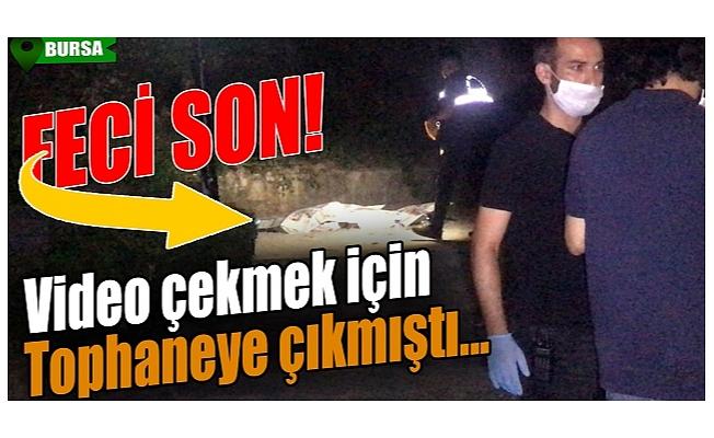 Bursa'da video çekmek için surlara çıkan şahıs hayatını kaybetti