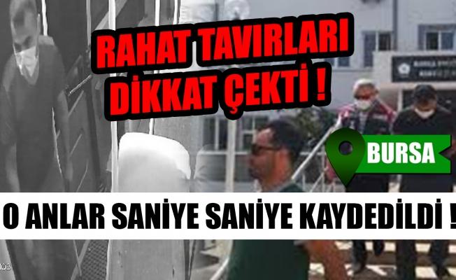 Bursa'da minibüs hırsızı kameralara böyle yakalandı