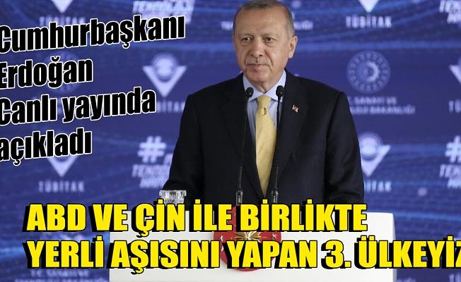 Cumhurbaşkanı Erdoğan'dan Kovid-19 aşısı için flaş açıklama: ABD ve Çin'in ardından 3. sıradayız.