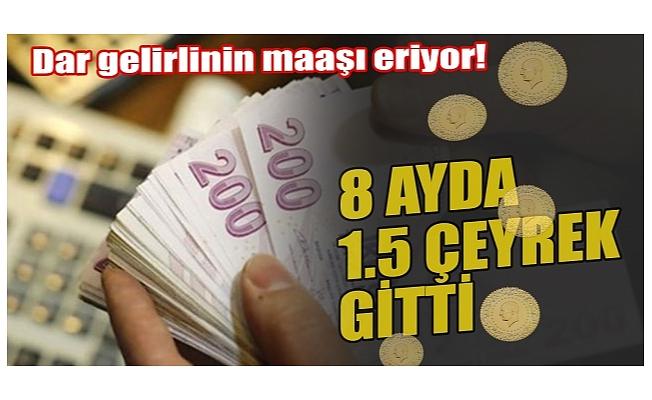 Dar gelirlinin maaşını eritiyor: Asgari ücretli 3 çeyrek altın kaybetti