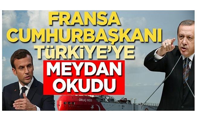 Fransa Cumhurbaşkanı Türkiye'ye meydan okudu