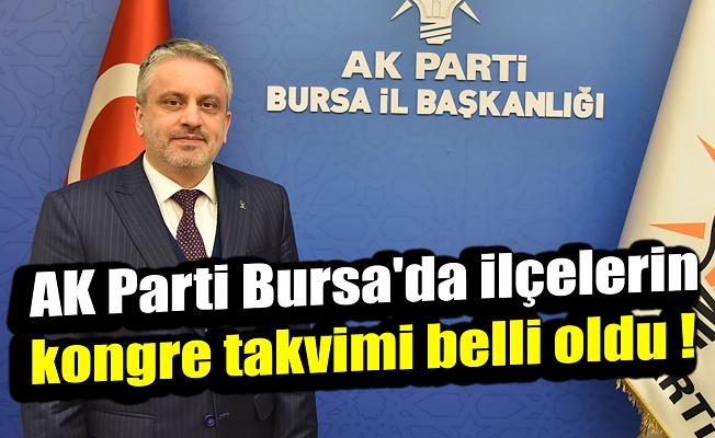 AK Parti Bursa'da ilçelerin kongre takvimi belli oldu