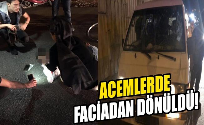 Bursa'da Acemler Kavşağı'ndaki kaza ucuz atlatıldı!