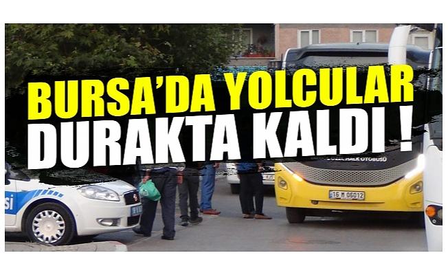 Bursa İnegöl'de yolcular durakta kaldı