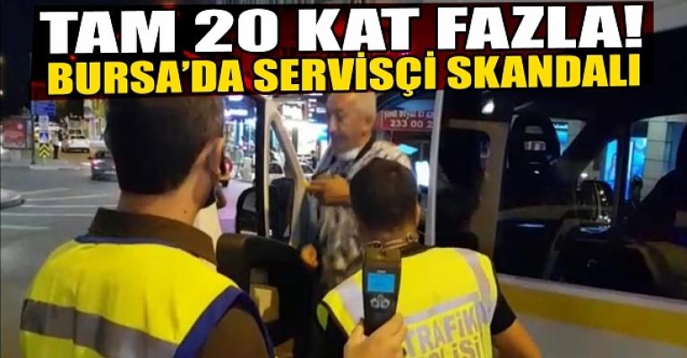 Bursa'da 3.97 promilli okul servisi soförü