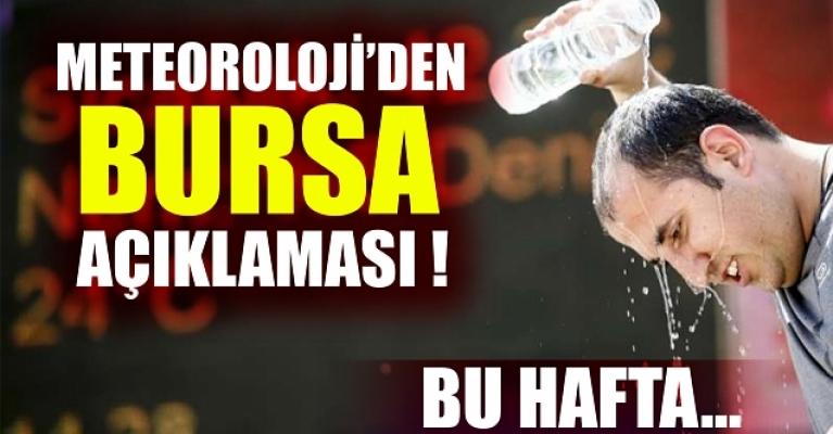 Bursa'da bugün ve yarın hava durumu nasıl olacak? (07 Eylül 2020 Pazartesi)