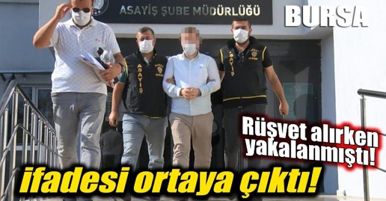 Bursa'da rüşvet alırken yakalanmıştı: Danışmanlık karşılığında para alıyorum