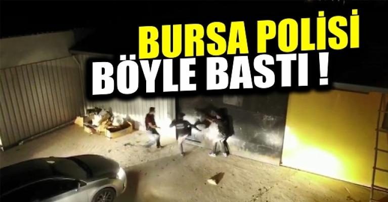 Bursa'da uyuşturucu serasına dönüştürülen fabrikaya baskın