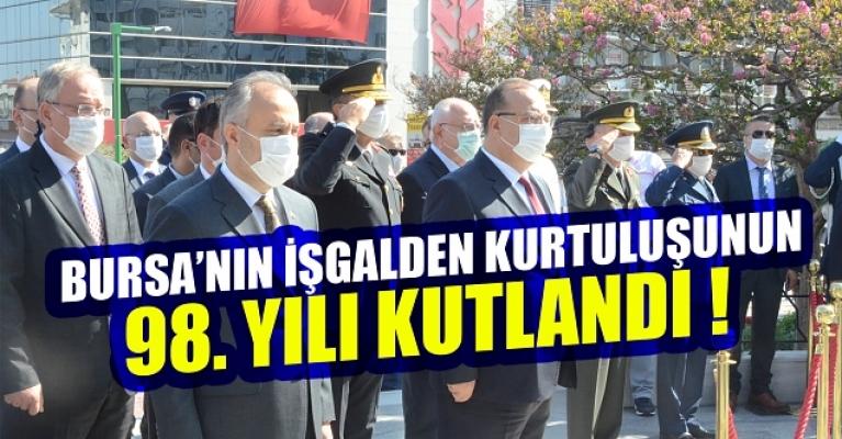 Bursa'nın işgalden kurtuluşunun 98. yılı kutlandı