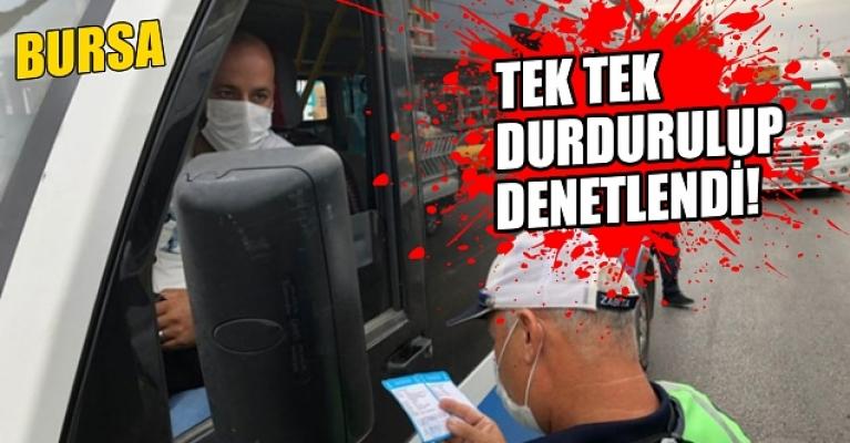 Bursa'da toplu taşımalara sıkı denetim