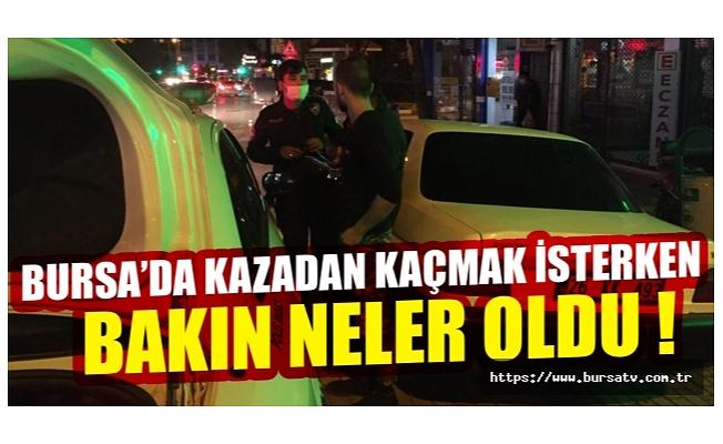 Bursa'da kazadan kaçmak isteyen gençler maskesizlikten dolayı ceza yedi