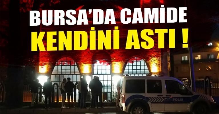 Bursa'da eski eşi konuşmak istemeyince, not bırakıp camide kendini astı
