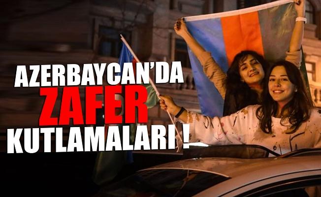 Azerbaycan'da zafer kutlamaları!