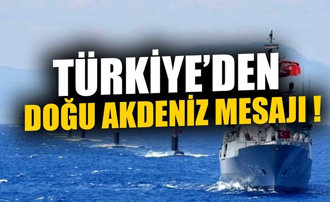 Bakan Çavuşoğlu'ndan Doğu Akdeniz mesajı.