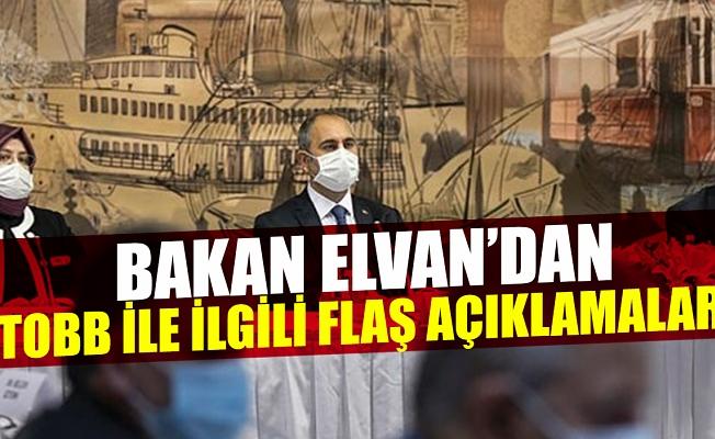 Bakan Elvan'dan TOBB ile yapılan reform görüşmeleri sonrası açıklama.
