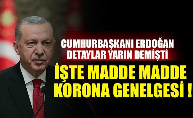 Başkan Erdoğan'ın işaret ettiği genelge yayınlandı! İşte İçişleri Bakanlığı korona genelgesi