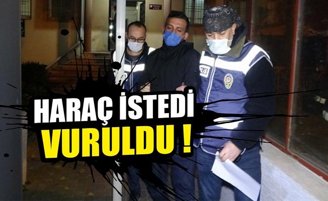 Bursa'da dükkanına gelip, haraç isteyeni vurdu