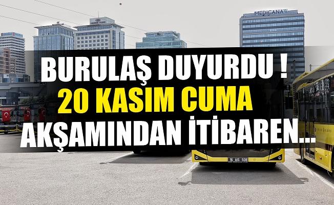 Bursa'da otobüs ve metro seferleri için yasak açıklaması