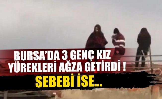 Bursa'da genç kızların Tik Tok çılgınlığı