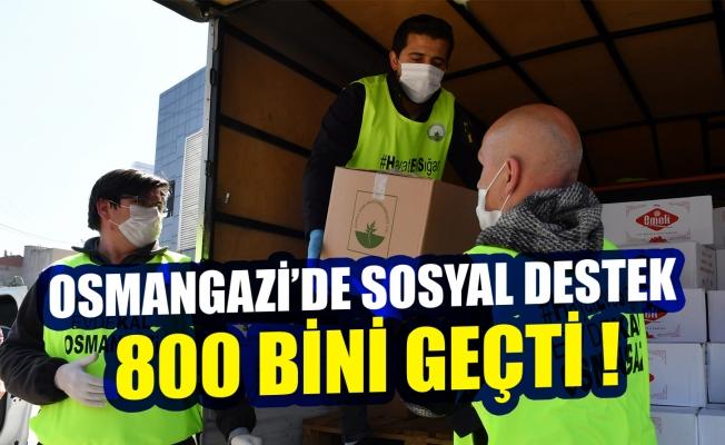 Bursa Osmangazi'de sosyal destek 800 bini geçti